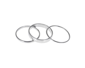 1mm 2mm 4mm Stainless Steel Interchangeable Spinner Ring Add-on for Men or Women