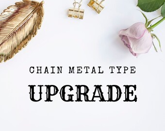 Standard Chain Upgrade from Silver to Rose Gold or Yellow Gold Dipped