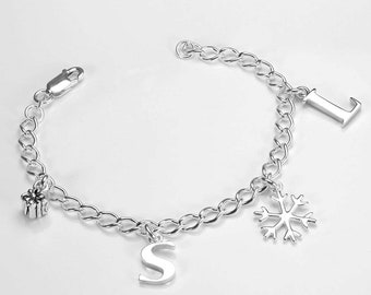0.5mm Curb Bracelet Chain * 6 7 8 inches * Sterling Silver * Ideal for Clip Charms