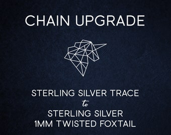 Chain Upgrade 1mm Twisted Foxtail Chain * 16 18 20 24 inches * Solid Sterling Silver * Best for Men, Women