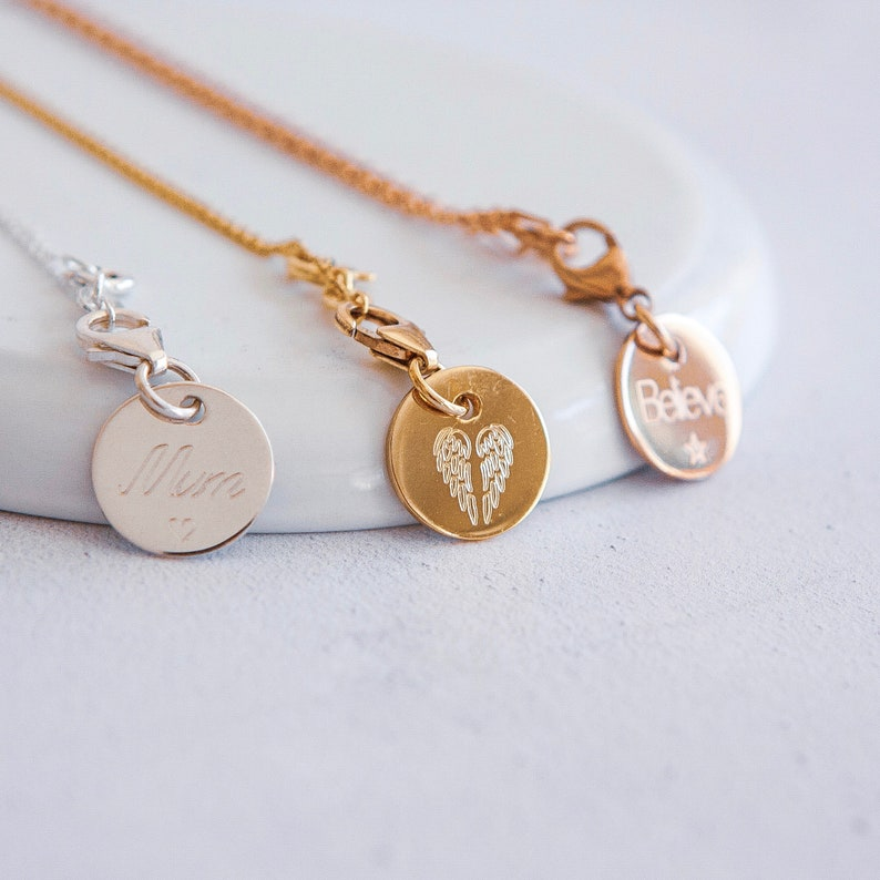 Sterling Silver Rose Pendant Necklace Personalized with 40 Characters Choice of 6mm Semi Precious Gemstone *