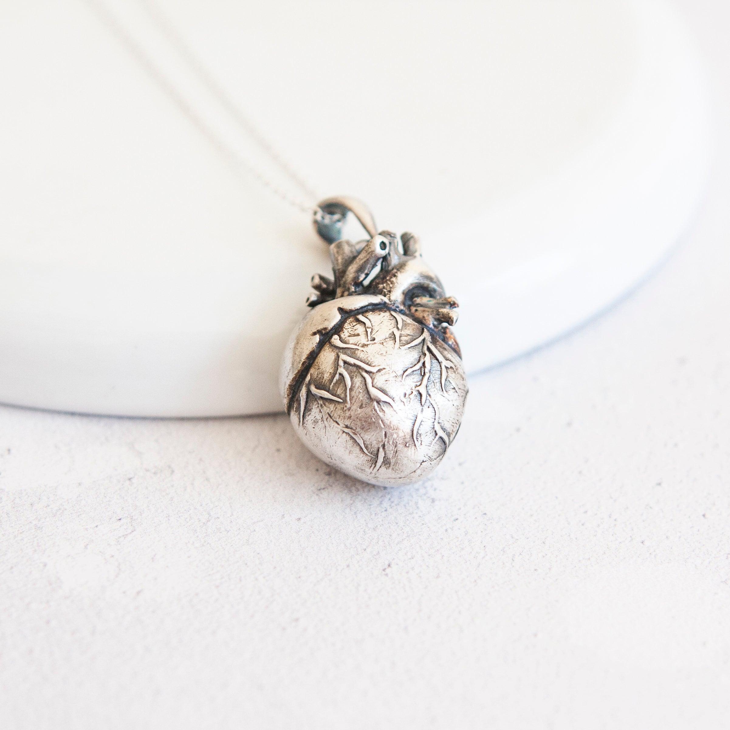 Lolita * Anatomical Heart Necklace * Sterling Silver * Memento Mori ...