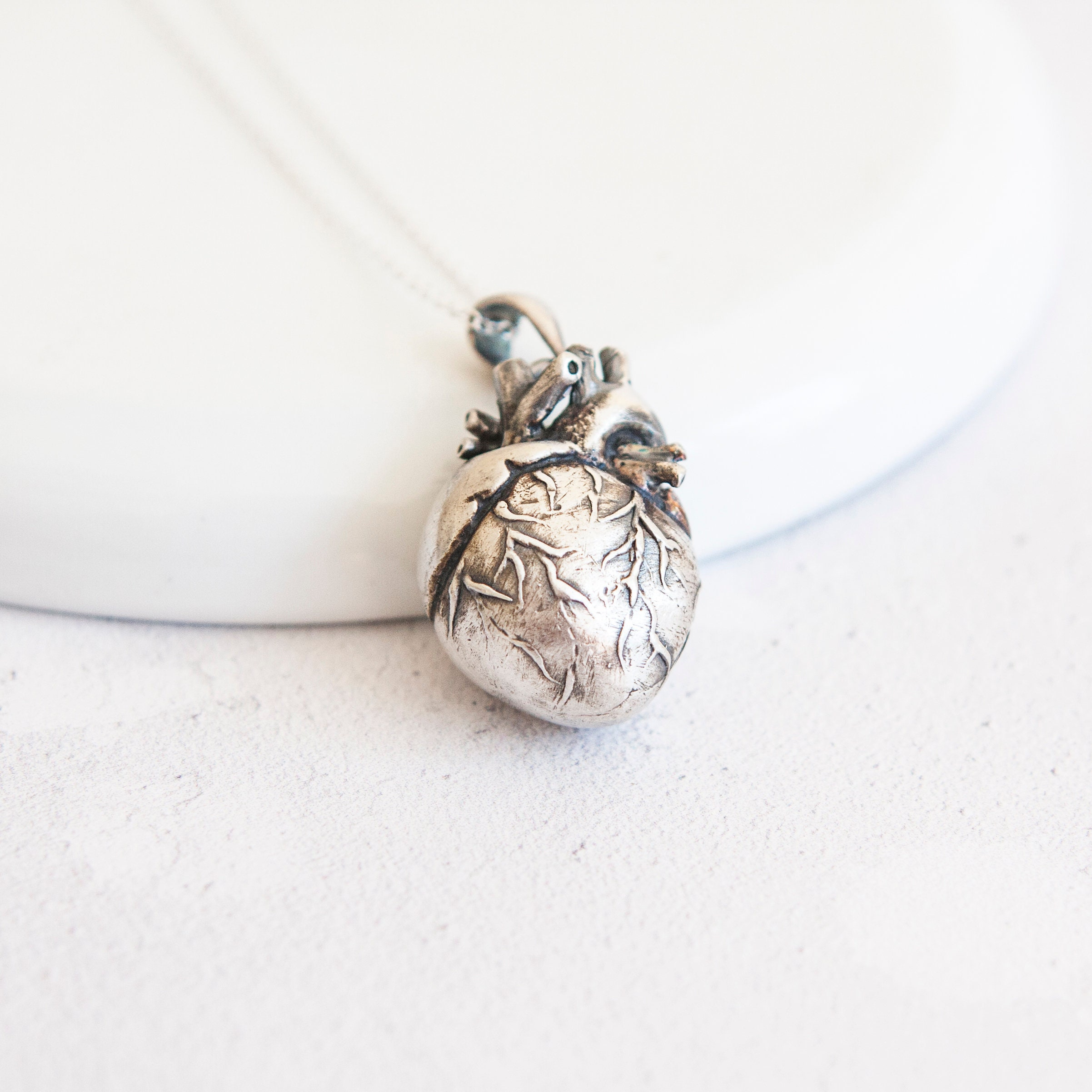 Lolita * Anatomical Heart Necklace * Solid Sterling Silver * Medical ...