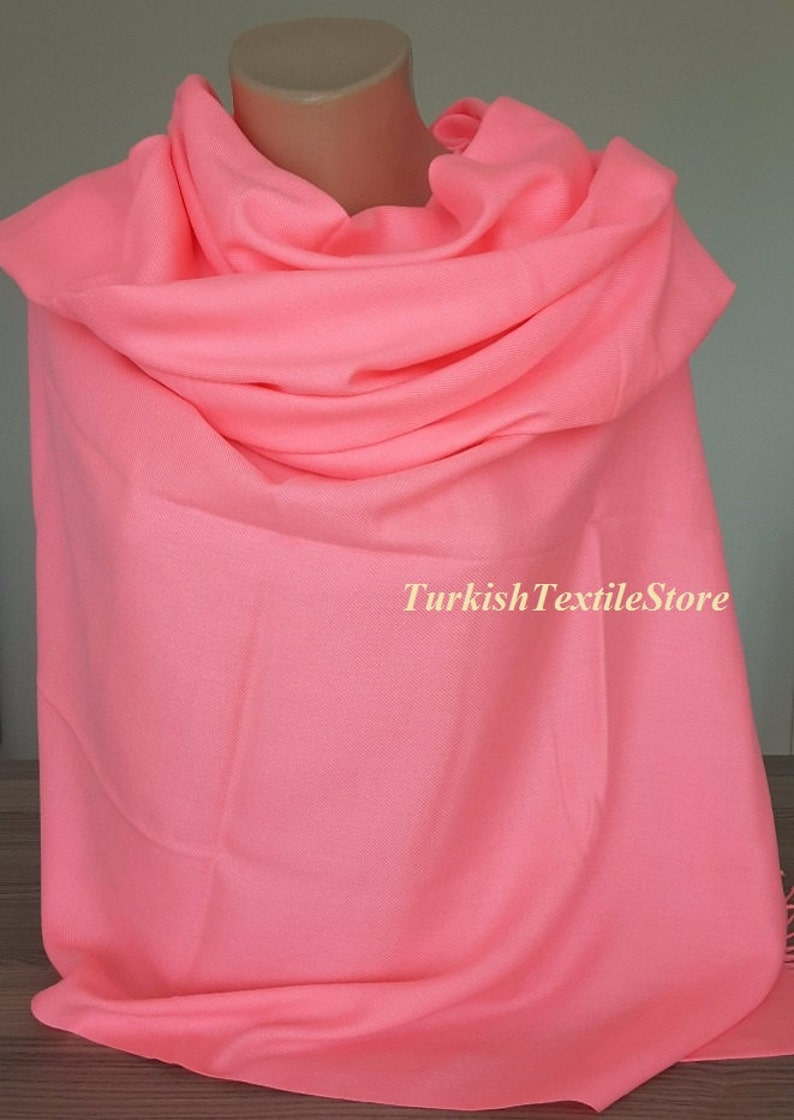 b89f9641b7cbc Neon Pink Wedding Shawl Pink Wrap Pashmina Pink Bridesmaid | Etsy