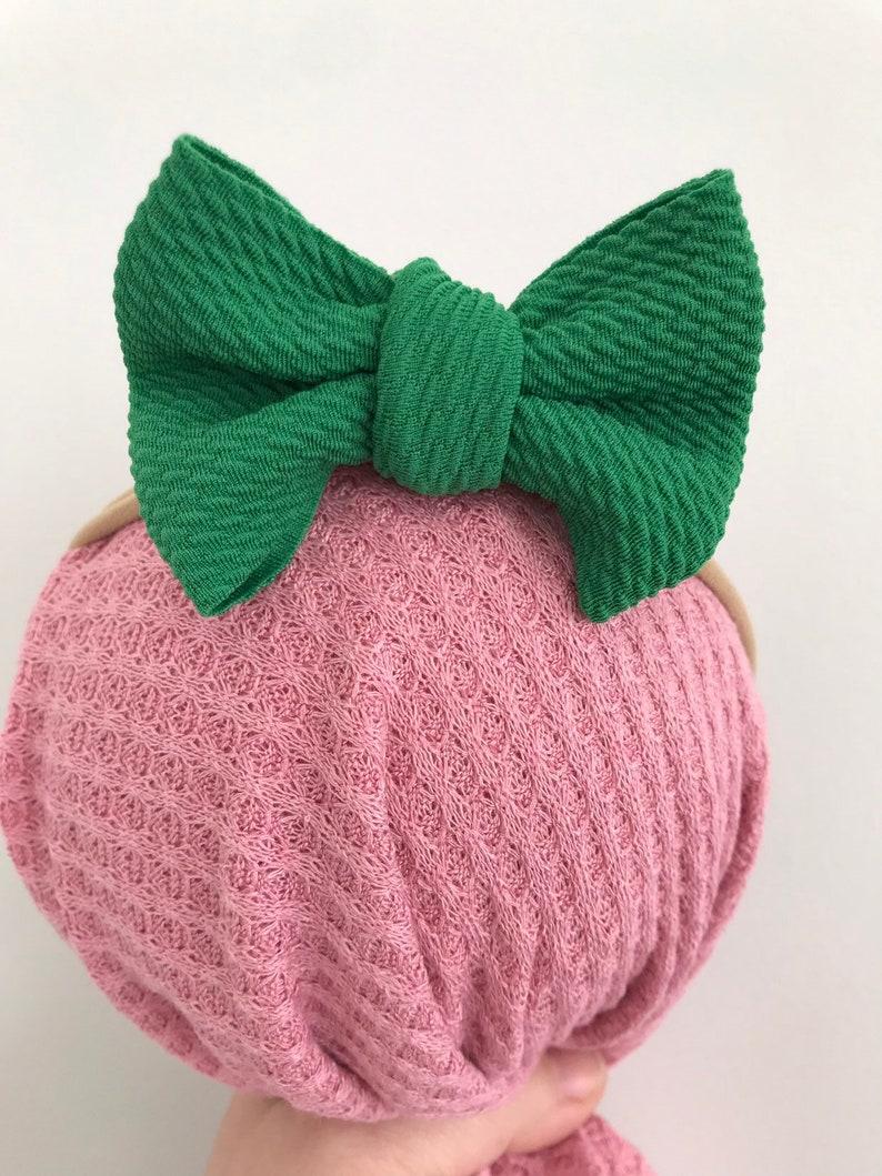 St Patrick\u2019s Day headband green knit headband baby girl headband knit headband