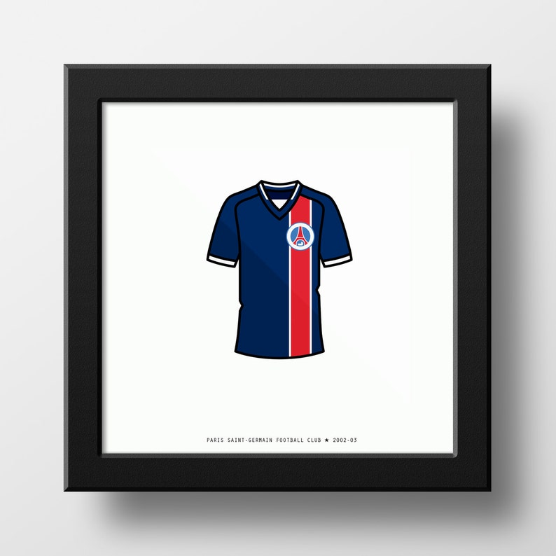 detailed look c8535 96b6c Paris Saint-Germain 2002-2003 Shirt PSG Soccer Football Maillot Classic
