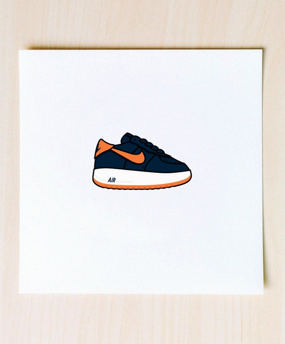 Cone Air Force 1 Illustration 9x9 Print Of Nike Af1 Cone Etsy