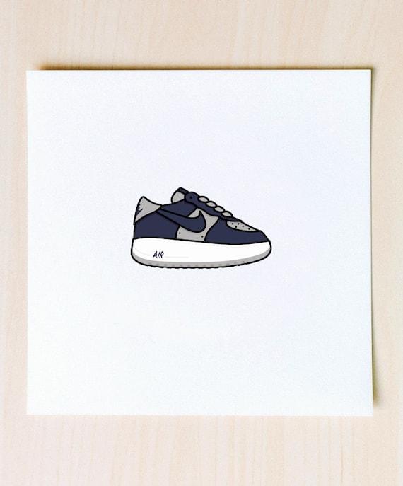 Atmos Air Force 1 Illustration 9x9 print of Nike AF1 Atmos Sneakers Rare Hyperstrike Quickstrike