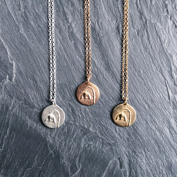 Rose Gold-plated Silver 19mm Courage To Change Saying Pendant