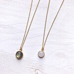 Moonstone Labradorite Coin Chain, Gem Choker, Boho Gypsy Nomad Jewelry, Gold Necklace, Gift