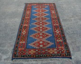 3'3 x 6'6 Feet Gorgeous Handmade Vintage Afghan Tribal Baluch 100% Wool Traditional Rug
