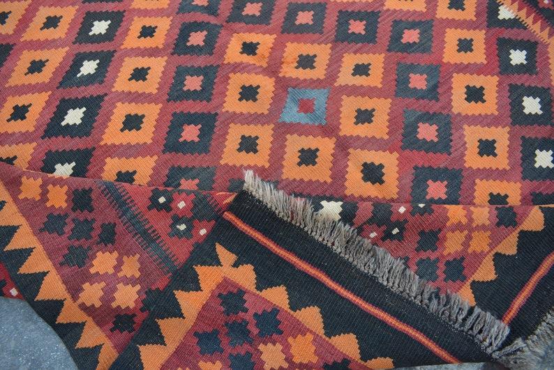 Baluch rug Turkish rug kilim rug 6/'6 x 10 Feet  Gorgeous Handmade Afghan Ghallmori Vintage 100/% wool area rug