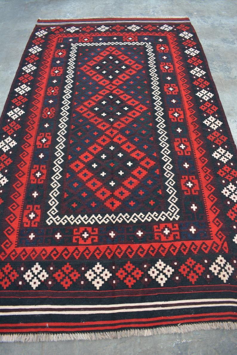 4/'10 x 8/'3 Feet Vintage Handmade Afghan Tribal Kelim Maimana Rug  100/% Wool Handmade Traditional Kelim Rug  Handmade Kelim Rug Size