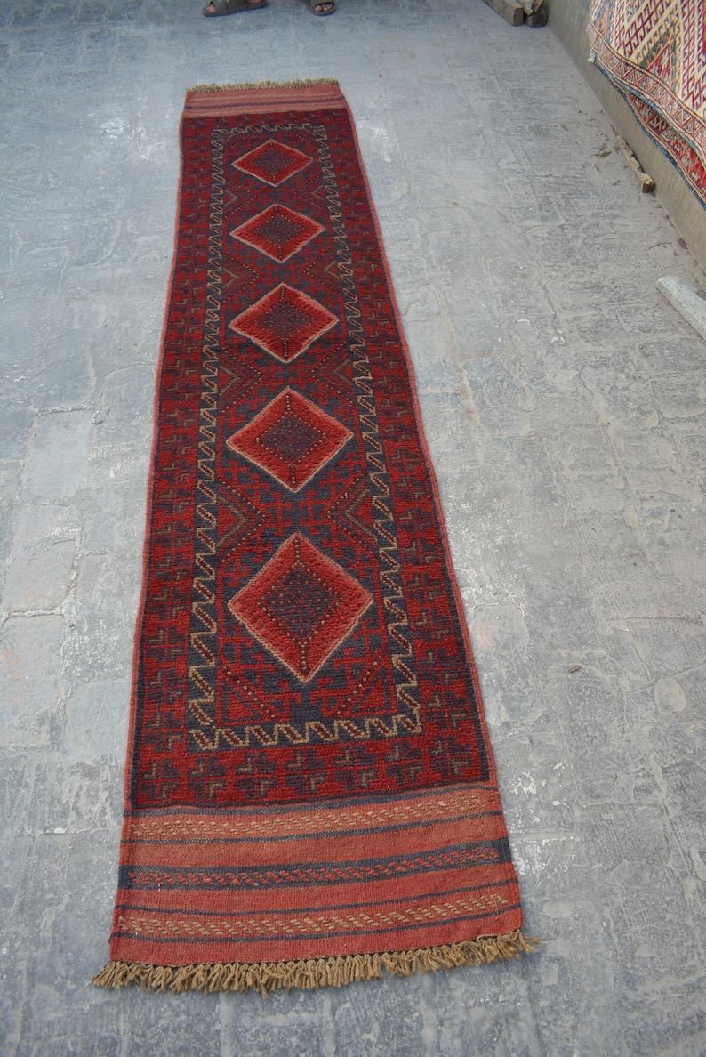 1/'11 x 8/'11 Feet Handmade Vintage Afghan Mishwani runner
