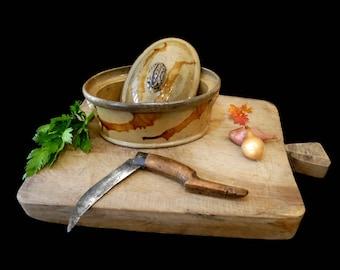 Ancient Crock Pot. Terracotta Primitive Glazed Pottery. 1800s Crock Pot. Dinnerware. Farmhouse. Mr. Cookware. Collectible. Retro Utensils.