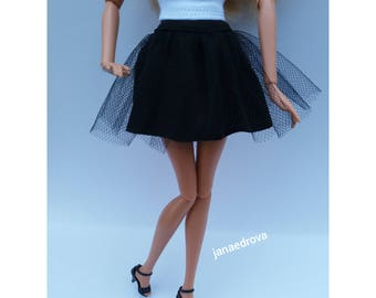 BLACK BARBIE SKIRT