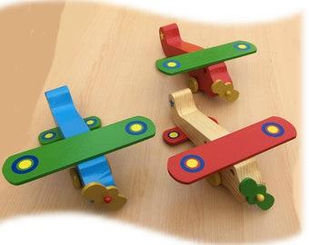 Toy Aeroplane, large and chunky, personalised