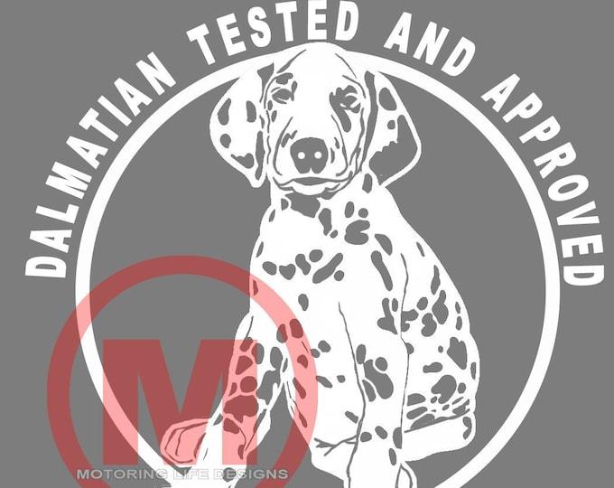Dalmatian TESTED vinyl decal
