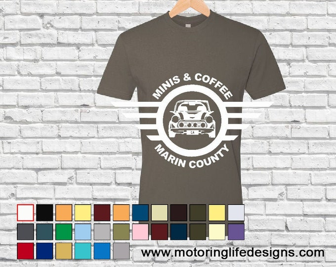 MINI & Coffee Marin County Unisex tshirt