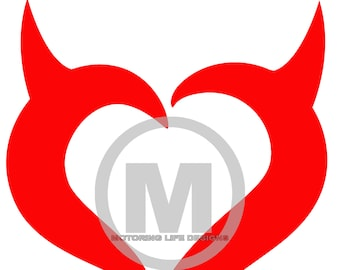 Devil Heart vinyl decal