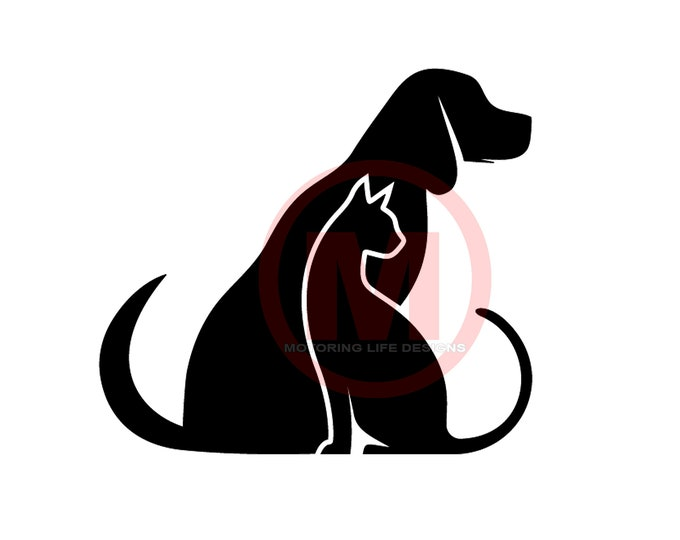 Cat and Dog #3 vinyl decal