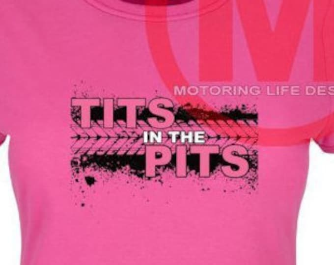 TITS in the PITS in Pink t-shirt