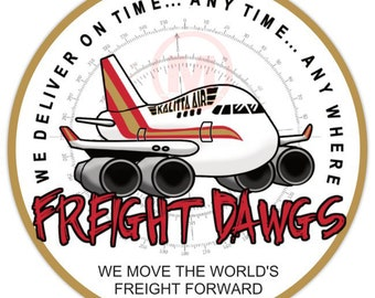 """Freight Dawg 747 -3"""" Magnet"""