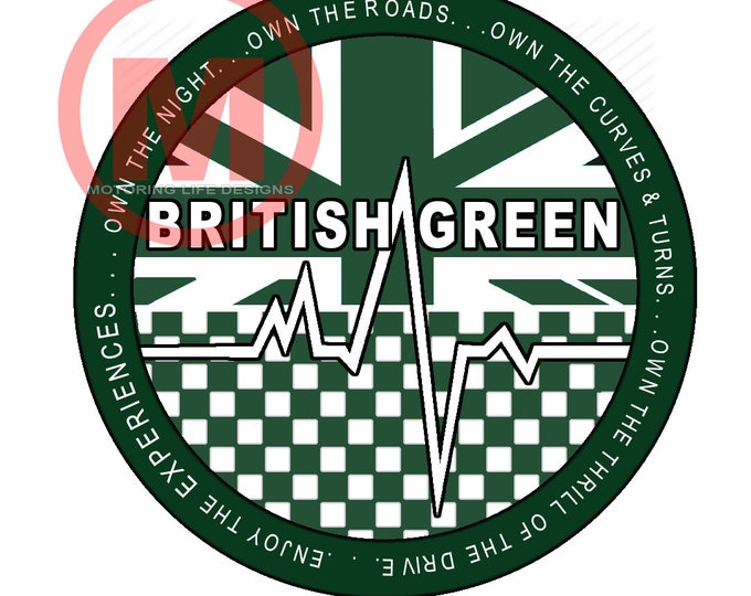 "Grill Badge- British Green Club  3"" magnetic grill badge"