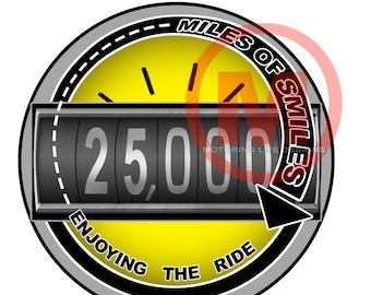 "MILES OF SMILES- 25K  3"" magnetic badge"