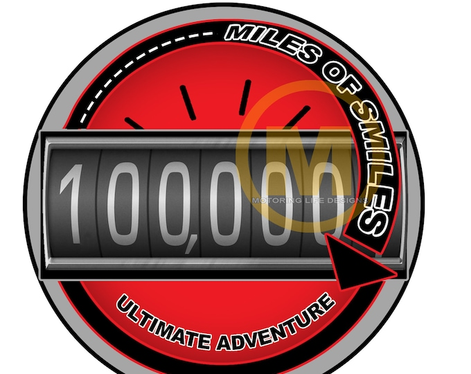 """Grill Badge- MILES OF SMILES  3"""" magnetic grill badge"""