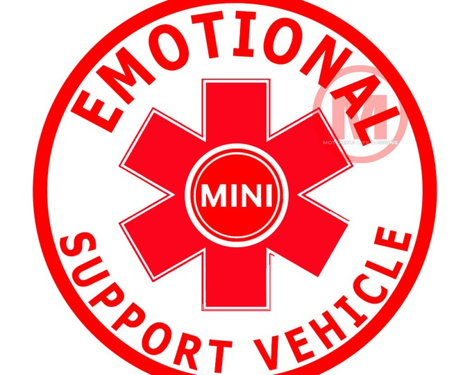 """Grill Badge- Emotional Support Vehicle 3"""" magnetic grill badge"""