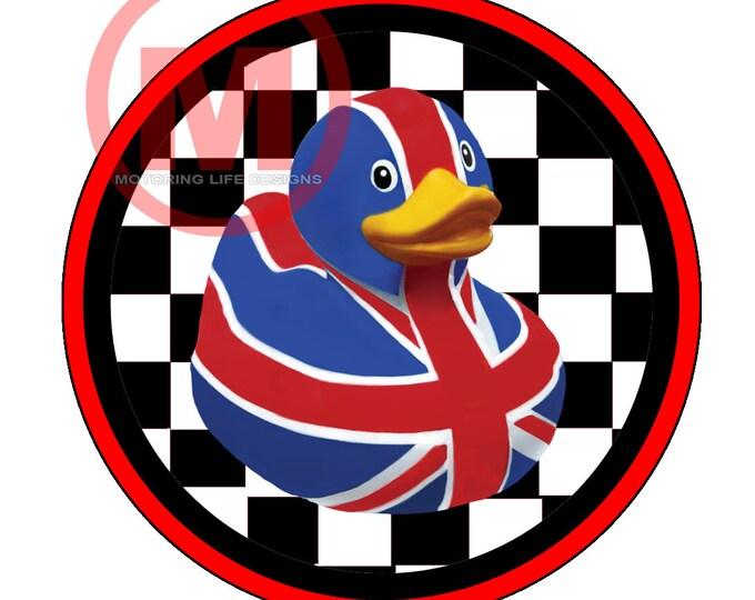 "British Flag Duck 3"" magnetic badge"