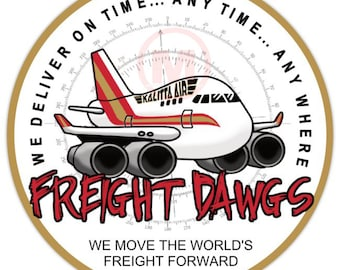 "Freight Dawg 747 -3"" Vinyl Sticker"