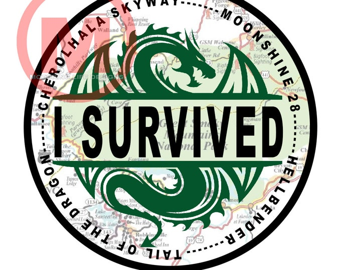 "Grill Badge- I Survived 3"" magnetic grill badge"