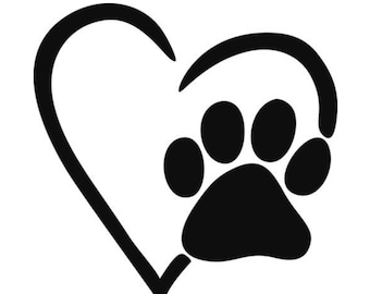 PAWS Love vinyl decal