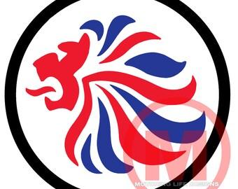 "British Lion 3"" magnetic badge"