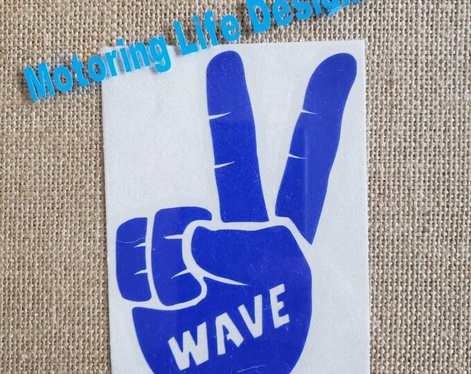2 Finger WAVE vinyl decal