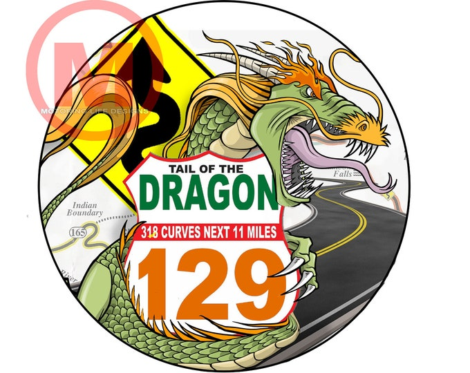 "Grill Badge- Dragon US129 3"" magnetic grill badge"