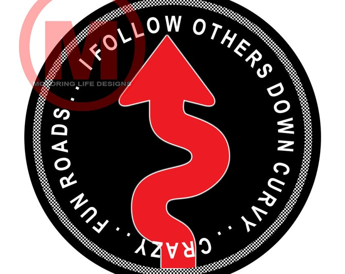 """I FOLLOW OTHERS 3"""" magnetic badge"""