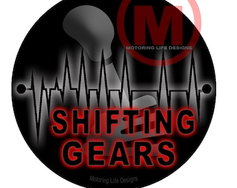"Grill Badge- Shifting Gears  3"" magnetic grill badge"