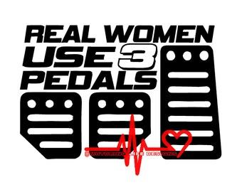 Real Women vinyl decal