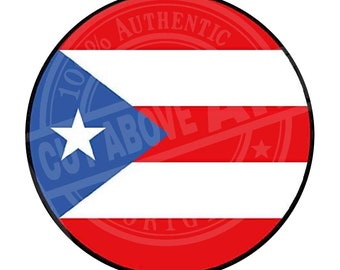 """Puerto Rico Flag 3"""" magnetic badge"""