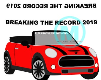 BREAKING THE RECORD 2019 Windshield Graphic