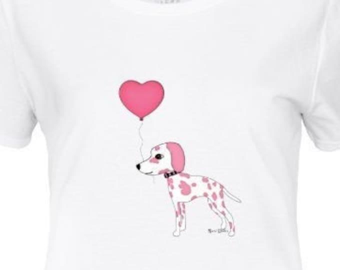 Pink Dalmatian Women's t-shirt