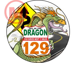 Stickers- Dragon US129 Vinyl Sticker