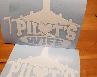 Pilot's Wife vinyl decal