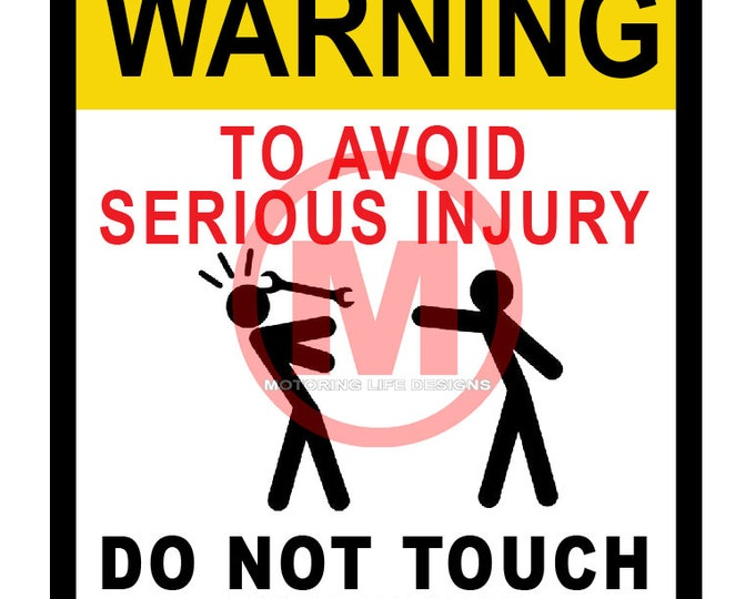 Stickers- DO NOT Touch Vinyl Sticker