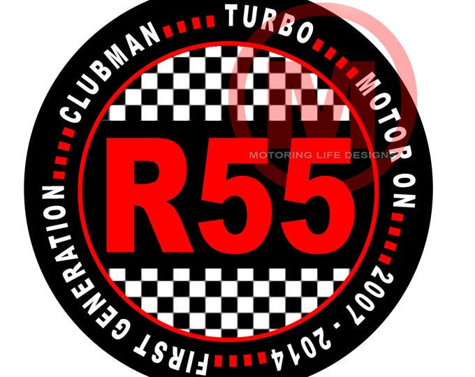 """Grill Badge- R55 Clubman 3"""" magnetic grill badge"""