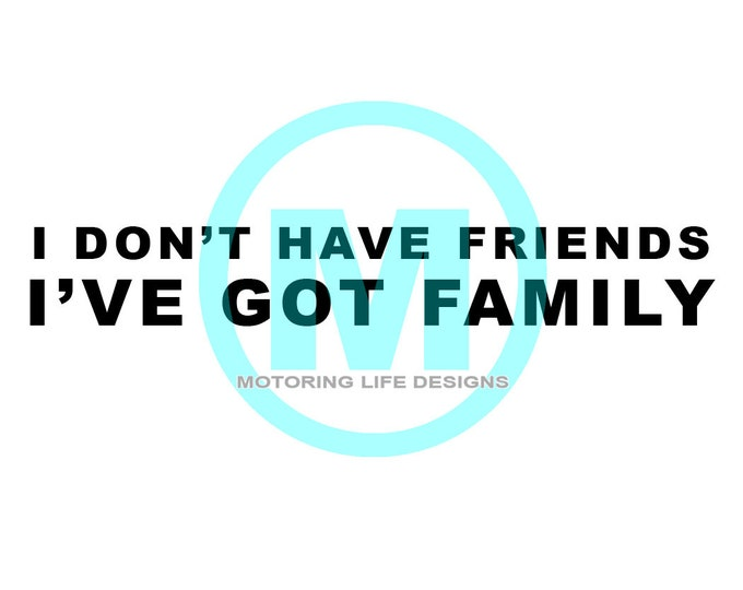 I Don't Have Friends.... vinyl decal