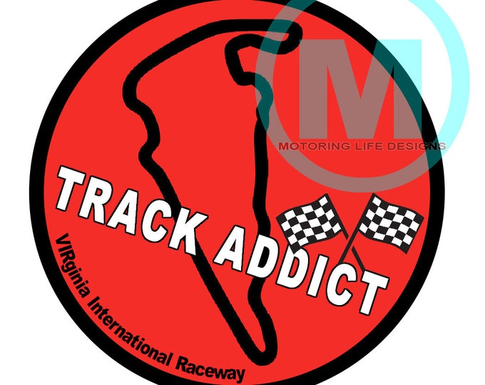 """Grill Badge- VIR Track Addict 3"""" magnetic grill badge"""